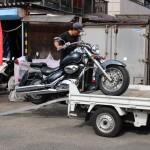 バイクレッカー作業